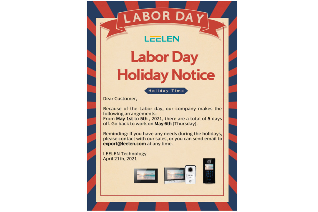LEELEN Holiday Notice